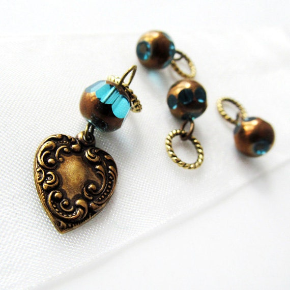 LAST SETS - What Your Heart Contains - Four Handmade Stitch Markers - Fits Up To 5.0 mm (8 US) - Limited Edition