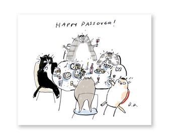 Happy Passover Cat Card
