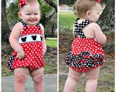 Minnie Mouse Smocked Bubble with Ruffles