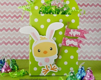 KIT Easter Gift Boxes-Green Polkadot-Treats, Gift Cards, Small Gifts Teacher Appreciation, Easter Basket Candy, Easter Candy