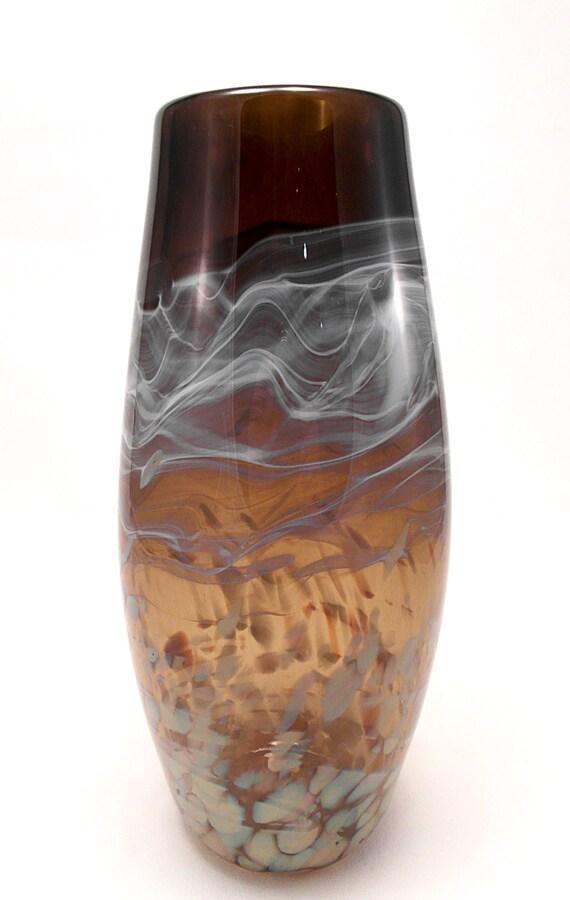 vase en verre souffl smokey topaz chaud fum. Black Bedroom Furniture Sets. Home Design Ideas