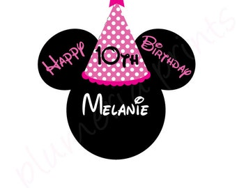 Birthday Mouse Head Magnet for Disney Cruise Cabin Door Pink