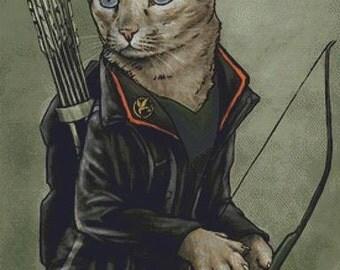 Modern Cross Stitch Kit Catniss By Jenny Parks - Needlecraft Kit - Hunger Games - Katniss Everdeen