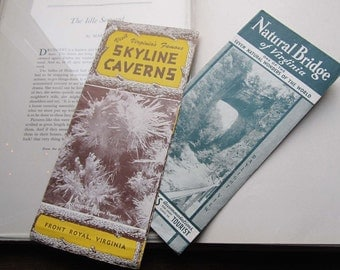 Two Vintage Travel Brochures * 1920's Ephemera * Virginia