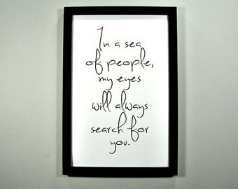 In a Sea of People... - FRAMED Print