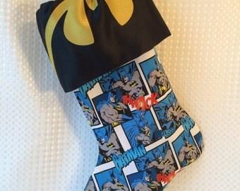 Blue Batman Stocking with Big Logo Top