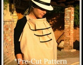 Nursing Cover-Sewing Kit-Designer Kit Starter-Pre Cut Fabric Pattern and Carry Bag-Alicia Front Ruffle Style-Bonus Mom and Kids Books