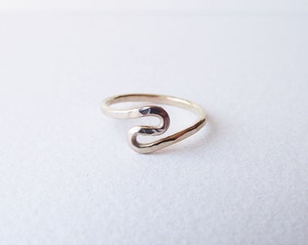 14K Gold Ebb & Flow River Ring