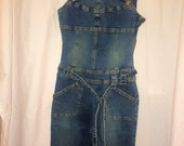 Hot Kiss Denim Bib Overalls Vintage Size Small