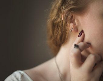 Black Silver Dot Stud Earrings. Small Earrings. Post Back Earrings. Sterling Silver. Minimal. Small Metal Studs. Modern. Minimal.