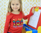 100 Days of School, I am 100 Days Smarter Shirt, I am 100 Days Smarter Appliqued Shirt, I am 100 Days Smarter Embroidered School Shirt, LDM