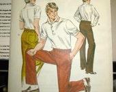 1299 Kwik Sew Pattern Men's Pants Waist 36 thru 42