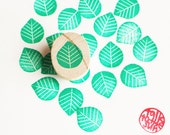 small leaf hand carved rubber stamp. woodland stamp. wedding guestbook stationery. card making. scrapbooking. gift wrapping. mounted. no5