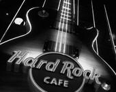Vegas Art - Hard Rock Cafe Art - 8x10 Photography Art Print - Black and White Photo - Las Vegas