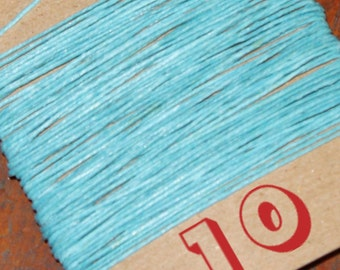 NEW! 10 yards TURQUOISE waxed Irish linen thread