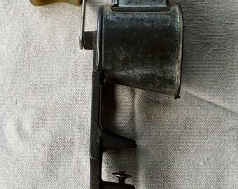 1930's Kitchen Grater,  Lorraine Metal Co., Made in USA , Green wood handle, vintage kitchen decor,