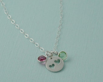Sterling silver Mothers Necklace / Grandmothers necklace / Family Necklace