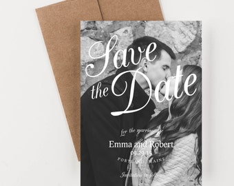 Photo Save The Date, Vintage Romance, Wedding Announcement