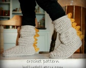 Crochet pattern- Kids' cozies- cozy boots for boys and girls- US youth sizes 10-4
