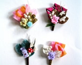 Happy Fun Time boutonniere corsage teddy bear rabbit horse birthday Limited Edition