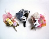 Happy Fun Time boutonniere corsage white horse rabbit tea coffee cup birthday Limited Edition