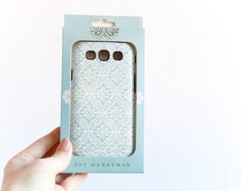 Samsung Galaxy S3 Tough Case, Bohemian Blue Diamond Pattern - Ready to Ship