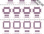 Printable PDF File - Dollhouse Miniature Bakery Boxes - Lavender