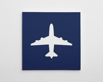 Airplane Canvas Print, Nursery Airplane Canvas Art, Airplane Nursery Decor, Nursery Art Print, Airplane Wall Art