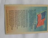 Vintage Linen Postcard, The Star Spangled Banner