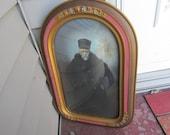 Bubble Glass Picture Grandpa in Unique Shape Frame