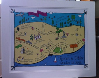 Custom Map Design Signing Print