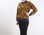 Golden Brown Southwestern Sweater - M