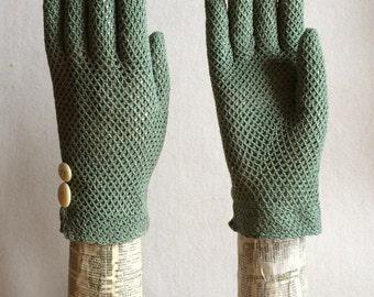 Crochet Gloves - Hand Dyed