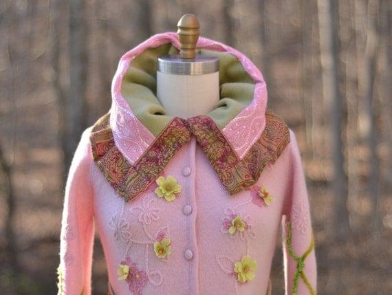 Custom listing for Brigitte. Patchwork felted OOAK sweater COAT