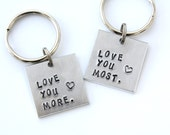 Love You More Keychain - Love You Most Keychain - Love You More Love You Most Keychain Set - Couples Keychain Set - Couples Gift Set