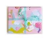 Gift Wrap - Fairytale Princess & Unicorn