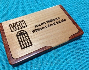 Personalized Business Card Case - Laser Engraved