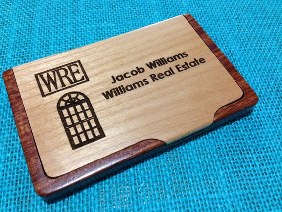 Personalized Business Card Case Laser Engraved