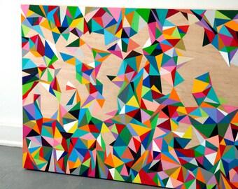 LARGE Original Abstract Painting/ Acrylic/Geometric/Minimalist/ Custom Hand Painted/One of a Kind Art Piece