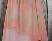 S/M Tie Dye Skirt/Chocolate Berry Vintage Skirt/Upcycled Clothing/Hippie Tie Dye Skirt/Tie Dye Lace Skirt/Upcycled Skirt/French Fairy/Peach