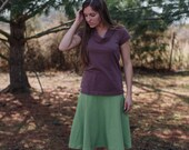 The Pines Organic Cotton Jersey Knit Top Women's Organic Cotton Clothing