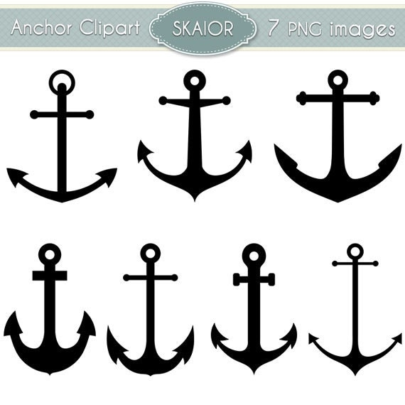 Anchor Clipart Vector Anchor Clip Art Nautical Clipart Steampunk ...