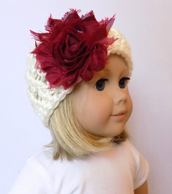 18 Inch Doll Hat Girl Doll Beanie Crochet Doll Clothes