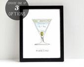 Martini Cocktail Diagram