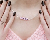 NEW silver & pink POOP chain necklace 90's  - gift idea: have one personalised