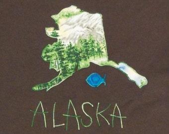 Alaska size Large ready to ship tshirt