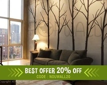 Wall Decal Winter Tree Wall Decal, living room, bedroom Wall decals Wall Sticker art