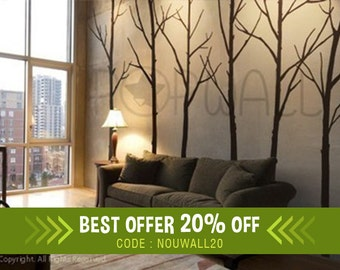 Wall Decal Winter Tree Wall Decal, Living Room, Bedroom Wall Decals Wall  Sticker Art Part 43