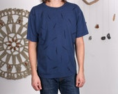 Blue T Shirt with Hand Dr...