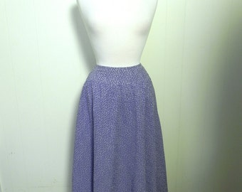Vintage Skirt 50s style Full Skirt bias cut with Petite Vine Print - on sale